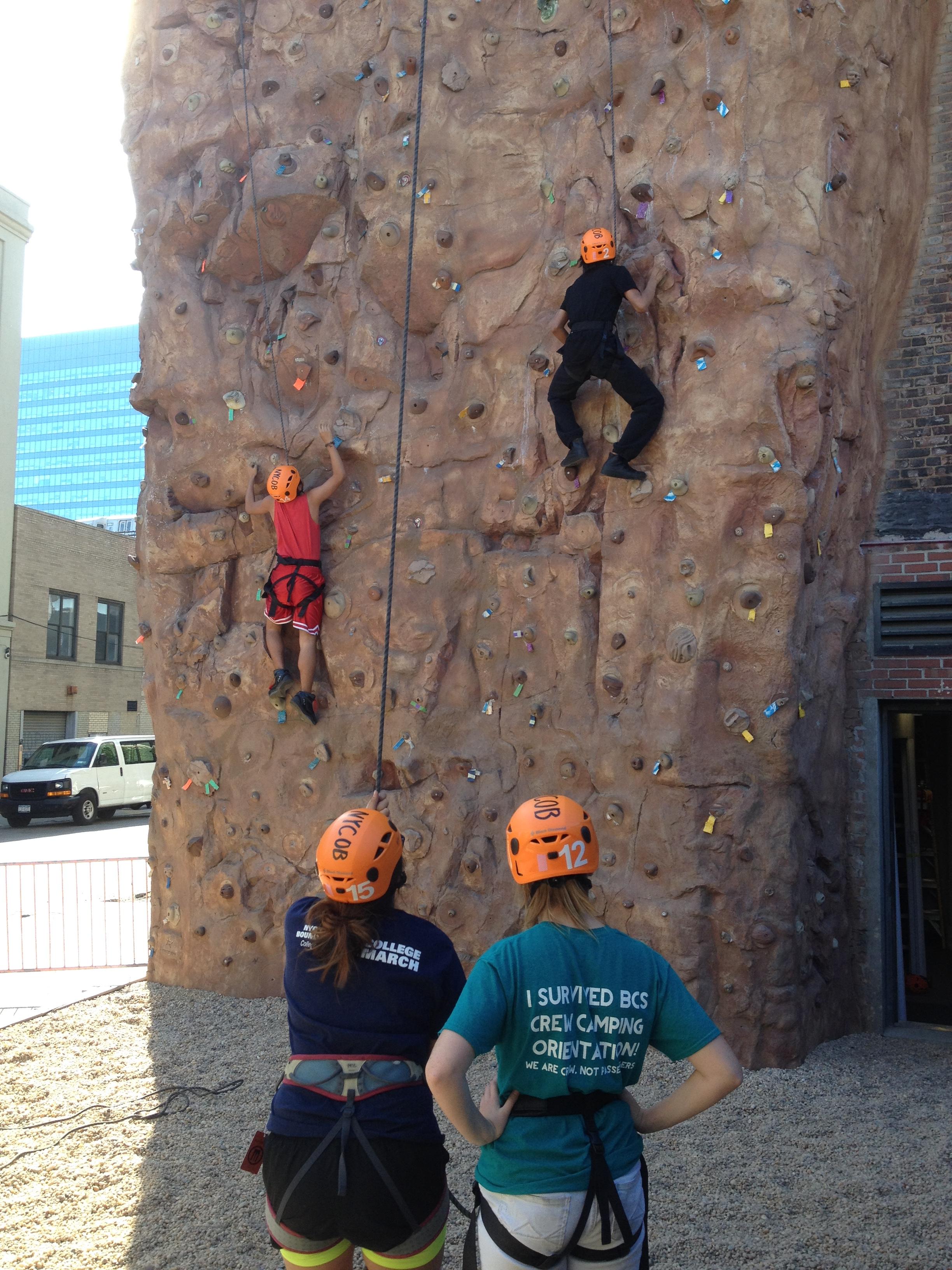 BCS students go rock climbing