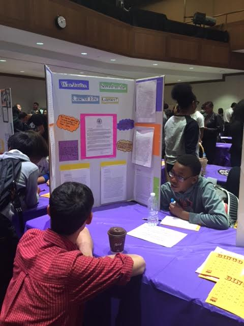 8th Graders Present at NYU's Social Justice Expo