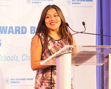 Nicole Pulla as Master of Ceremonies at NYCOBS gala