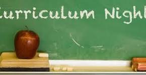 Curriculum Night - October 1