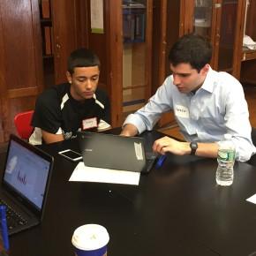 Blackstone Volunteers Help BCS Students with PBATs!