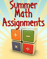 Summer Math Assignment for Grade 9 Students