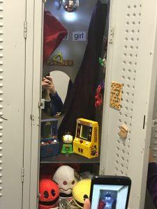 inside of a locker