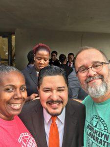 Eddie, Tracey, and Chancellor Carranza