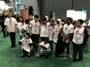 students at coding event
