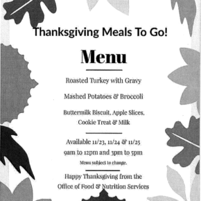 Free Daily Food Distribution – Thanksgiving Meal & Day After Thanksgiving Service