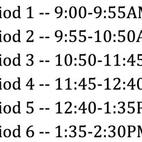 BCS Period Times